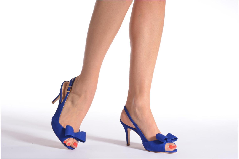 Sandales et nu-pieds COSMOPARIS Solale Bleu vue bas / vue portée sac