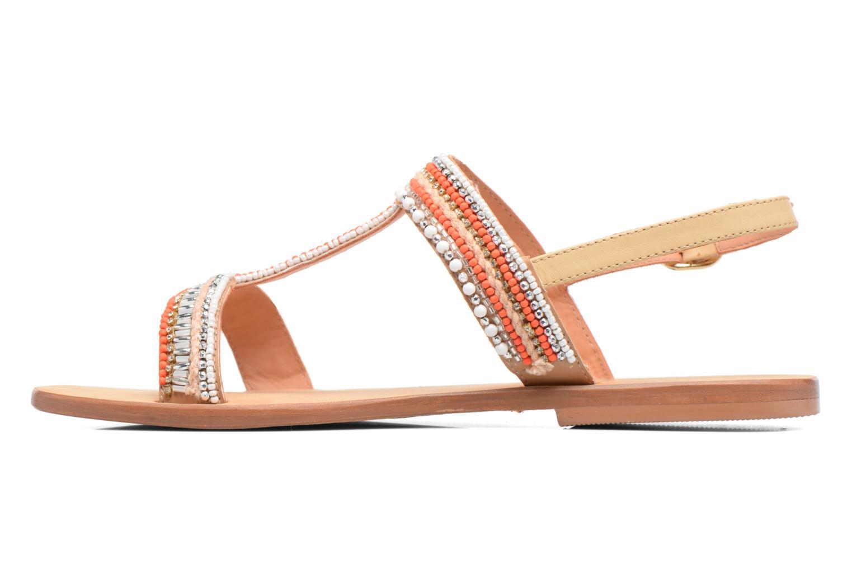 Sandales et nu-pieds COSMOPARIS Ibane Orange vue face