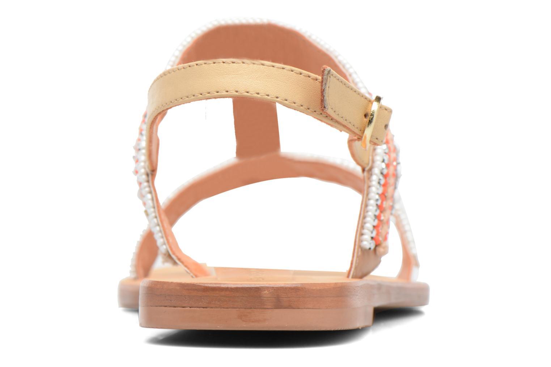 Sandales et nu-pieds COSMOPARIS Ibane Orange vue droite