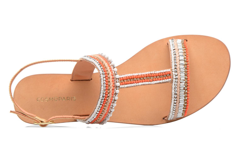 Sandales et nu-pieds COSMOPARIS Ibane Orange vue gauche