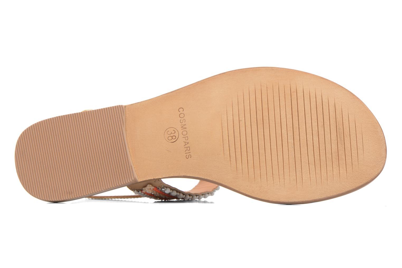Sandales et nu-pieds COSMOPARIS Ibane Orange vue haut