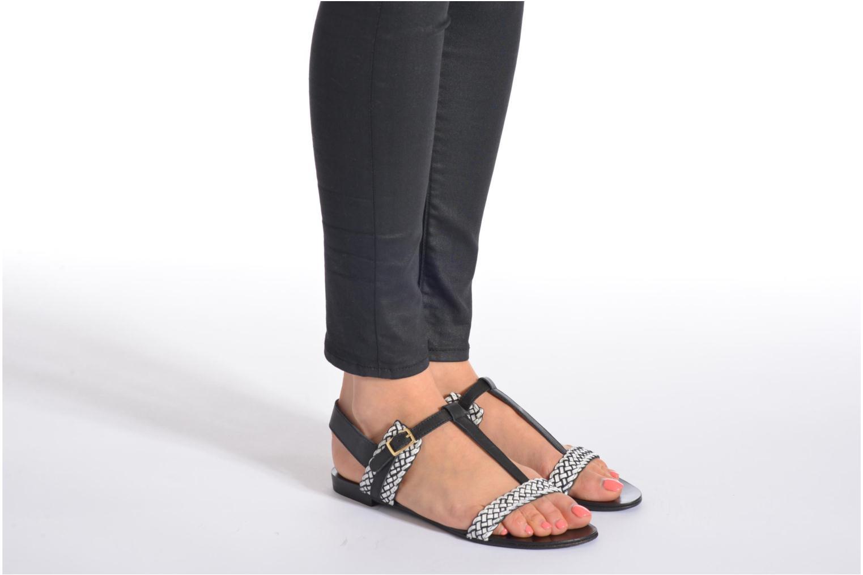 Sandales et nu-pieds COSMOPARIS Laya/tre Multicolore vue bas / vue portée sac
