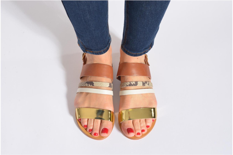 Sandales et nu-pieds COSMOPARIS Lanea/bi Multicolore vue bas / vue portée sac