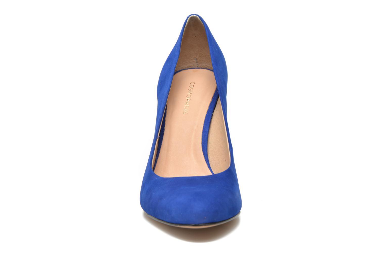 Escarpins COSMOPARIS Jelissa nub Bleu vue portées chaussures
