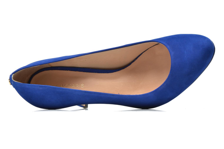 Escarpins COSMOPARIS Jelissa nub Bleu vue gauche