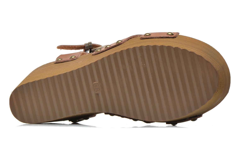 Sandales et nu-pieds Coolway Caleb Marron vue haut