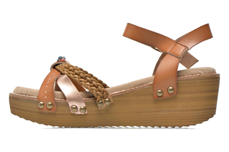 Sandales et nu-pieds Coolway Celine Marron vue face