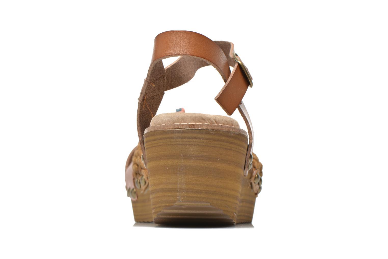 Sandales et nu-pieds Coolway Celine Marron vue droite