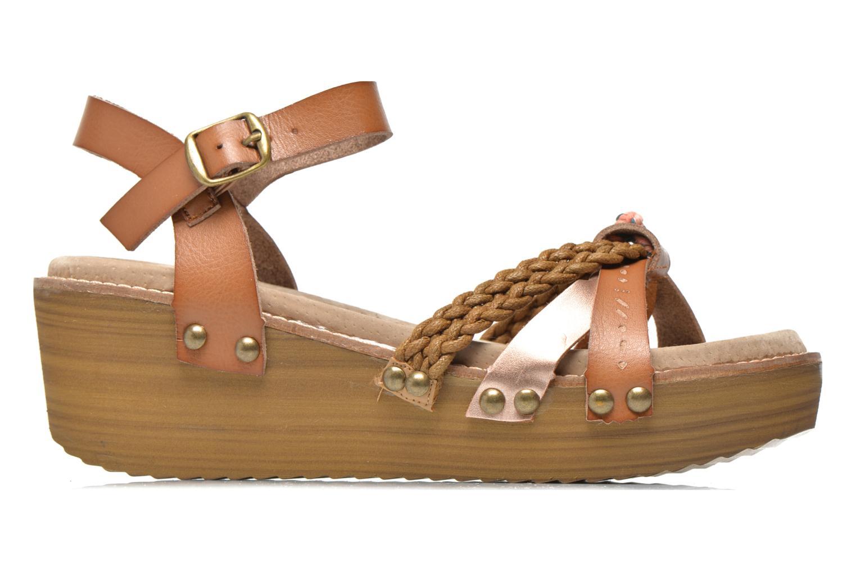 Sandales et nu-pieds Coolway Celine Marron vue derrière