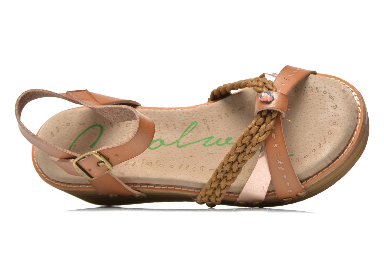 Sandales et nu-pieds Coolway Celine Marron vue gauche