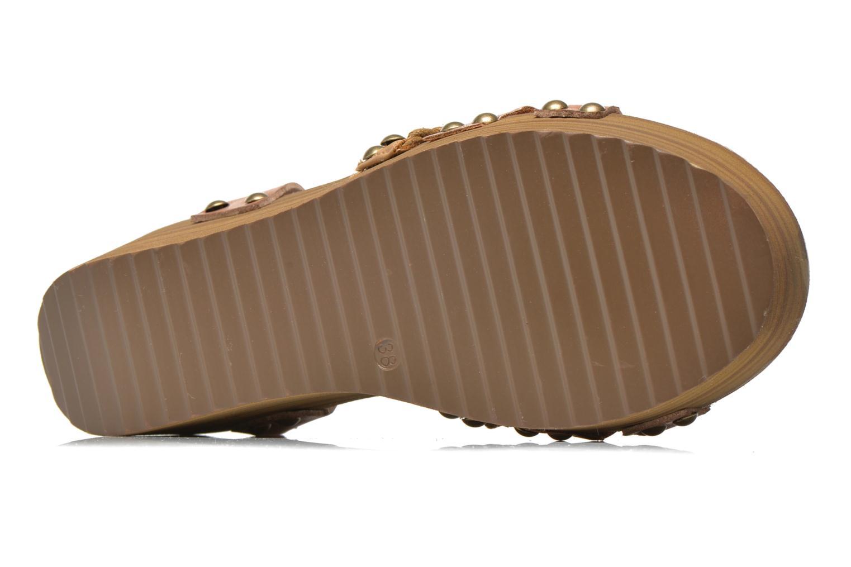 Sandales et nu-pieds Coolway Celine Marron vue haut