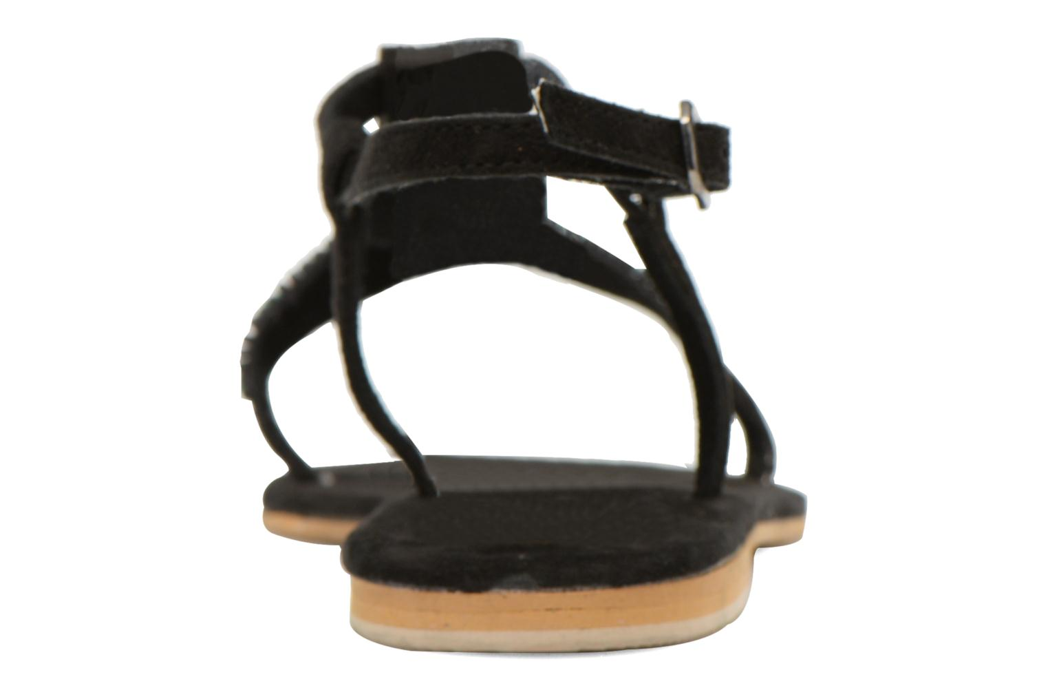 Sandalias Coolway Maddy Negro vista lateral derecha