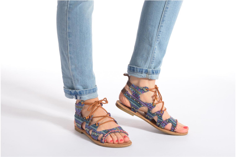 Sandales et nu-pieds Coolway Malawi Multicolore vue bas / vue portée sac