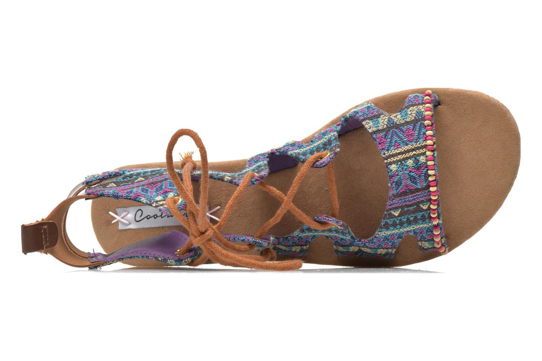 Sandales et nu-pieds Coolway Malawi Multicolore vue gauche