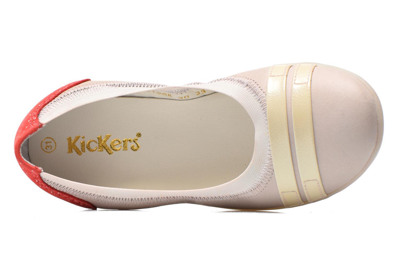 Bailarinas Kickers Amberi 2 Beige vista lateral izquierda