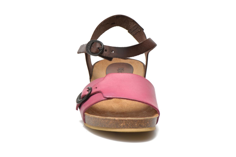 Sandalen Kickers Bombom rosa schuhe getragen