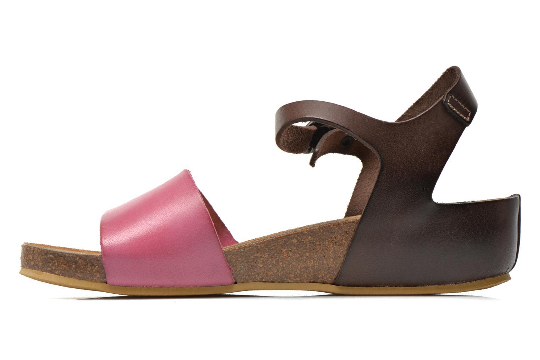 Sandalen Kickers Bombom rosa ansicht von vorne