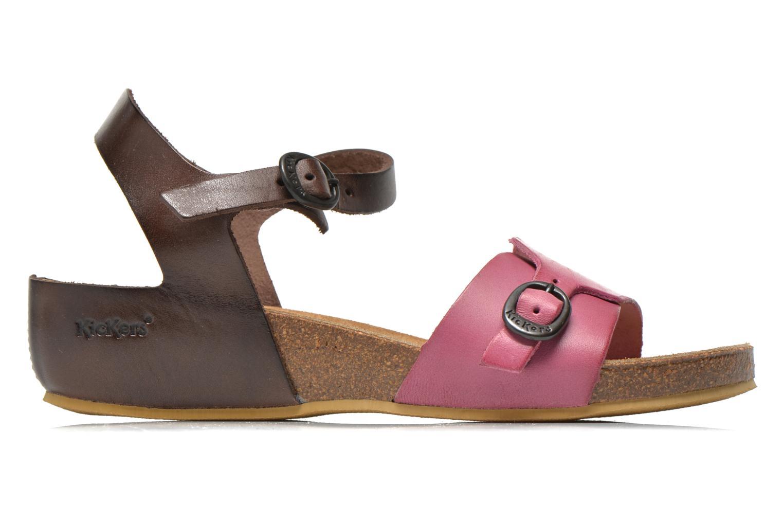 Sandalen Kickers Bombom rosa ansicht von hinten