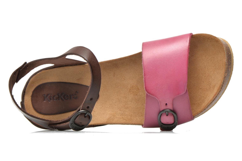 Sandalen Kickers Bombom rosa ansicht von links