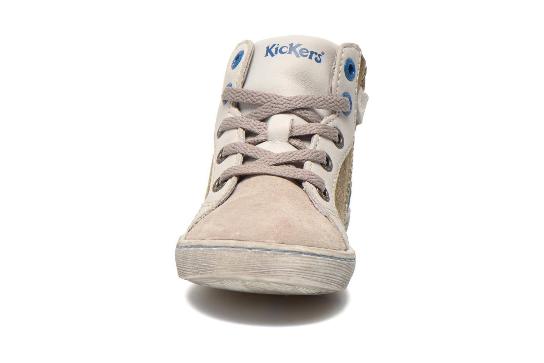 Baskets Kickers Lynx Gris vue portées chaussures