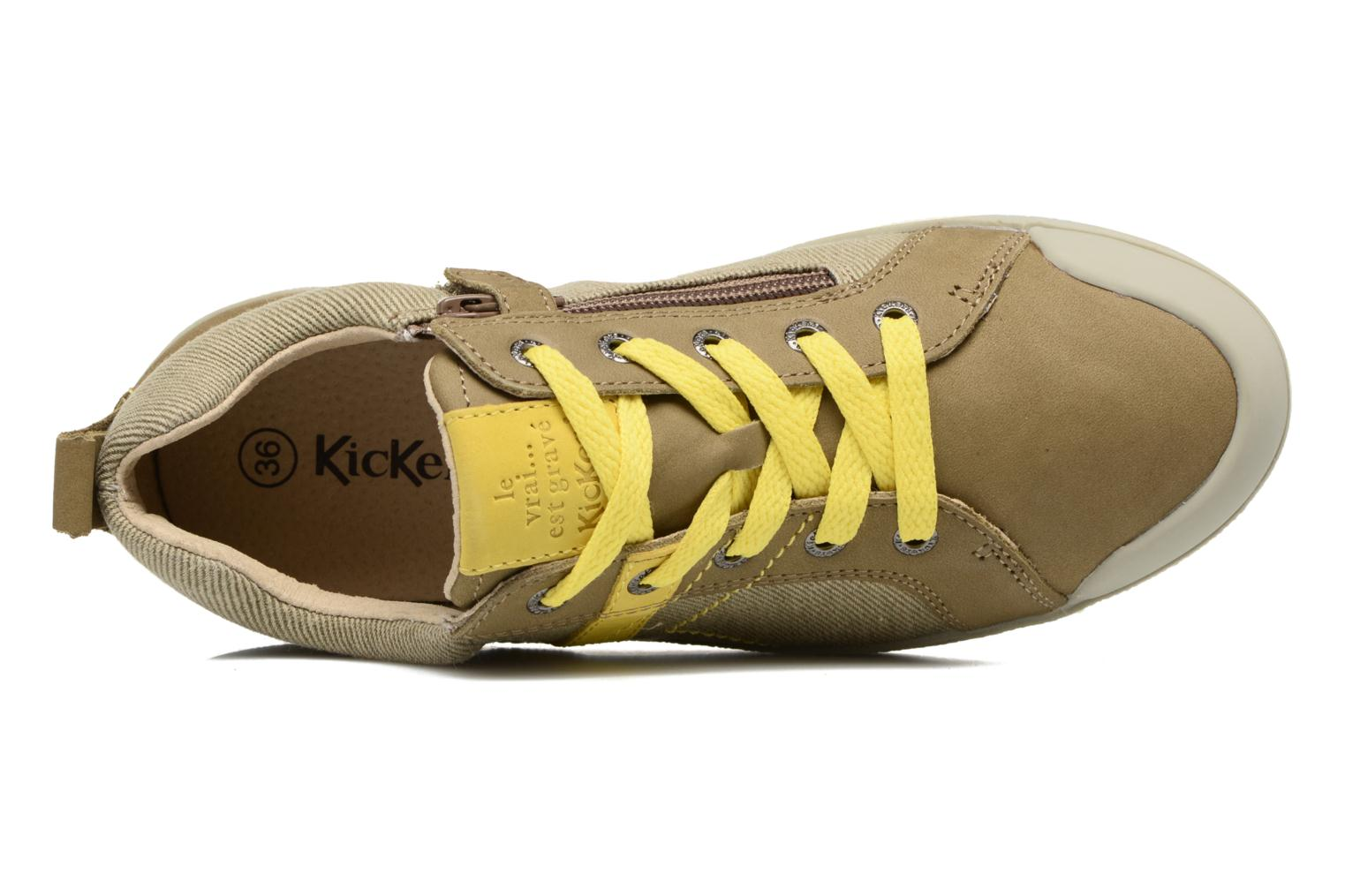 Baskets Kickers Trankilou Marron vue gauche