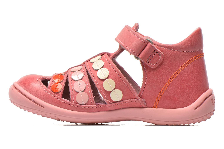 Sandalen Kickers Gift Kids rosa ansicht von vorne