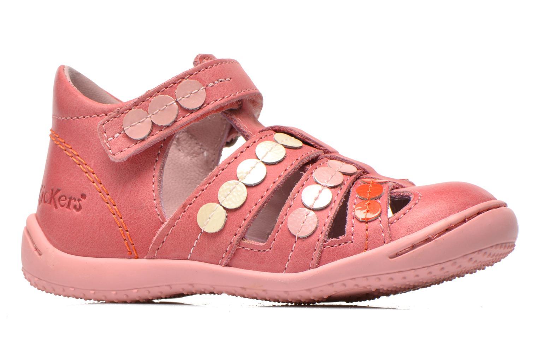 Sandalen Kickers Gift Kids rosa ansicht von hinten