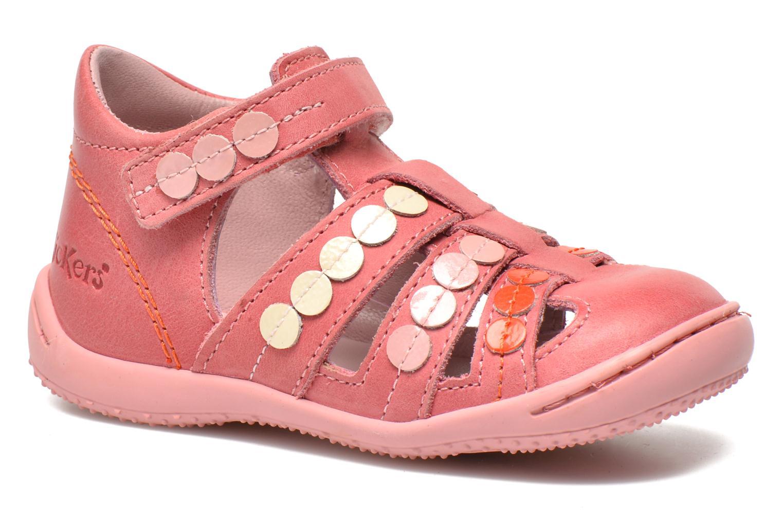 Sandales et nu-pieds Kickers Gift Kids Rose vue détail/paire