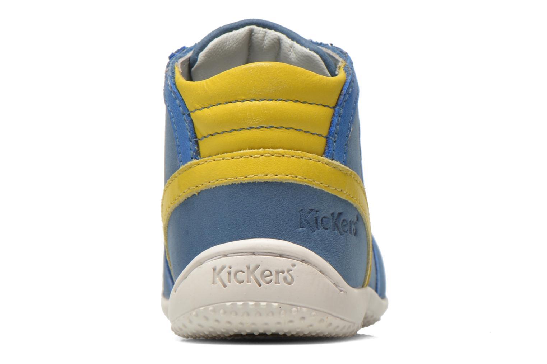 Bottines et boots Kickers Gurgle Bleu vue droite