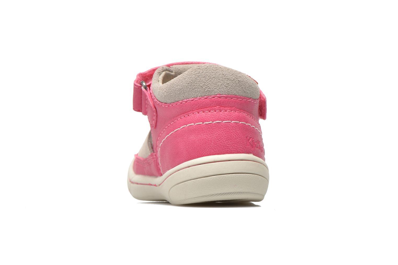 Sandales et nu-pieds Kickers Zela Rose vue droite
