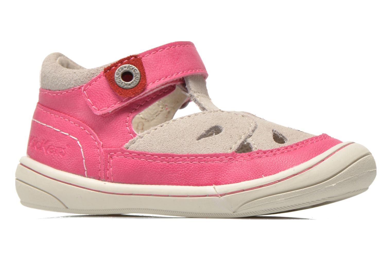 Sandales et nu-pieds Kickers Zela Rose vue derrière