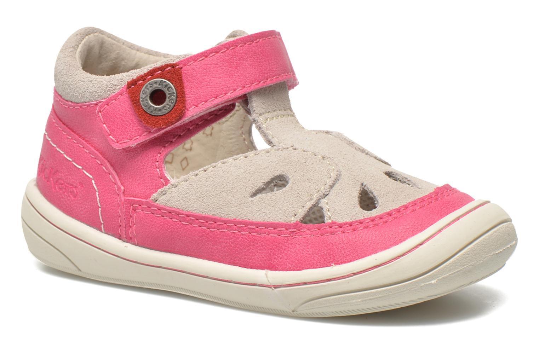 Sandales et nu-pieds Kickers Zela Rose vue détail/paire