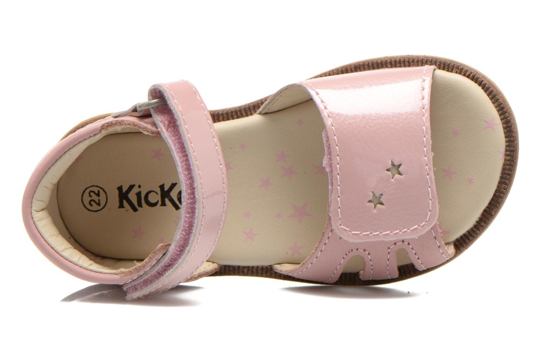 Sandaler Kickers Moonstar Pink se fra venstre