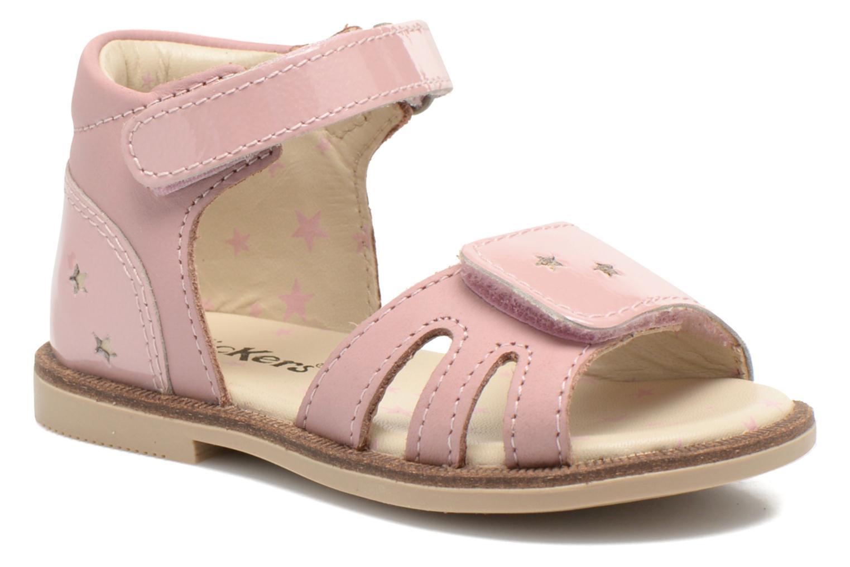 Sandaler Kickers Moonstar Pink detaljeret billede af skoene