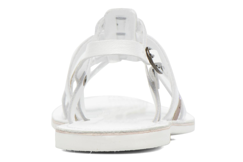 Sandalen Kickers Dixmillion Perf weiß ansicht von rechts