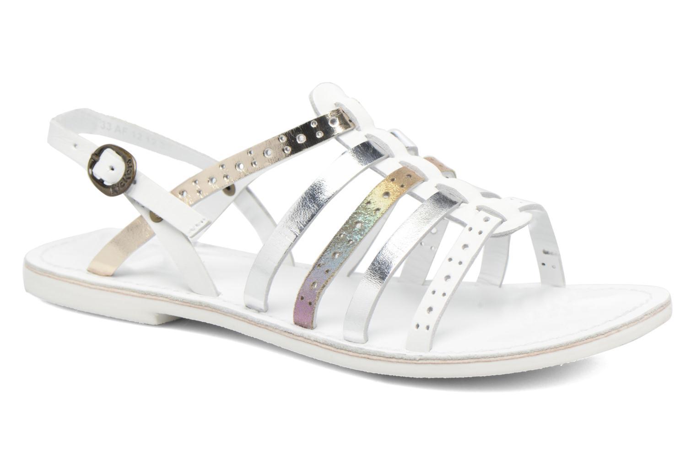 Sandales et nu-pieds Kickers Dixmillion Perf Blanc vue détail/paire