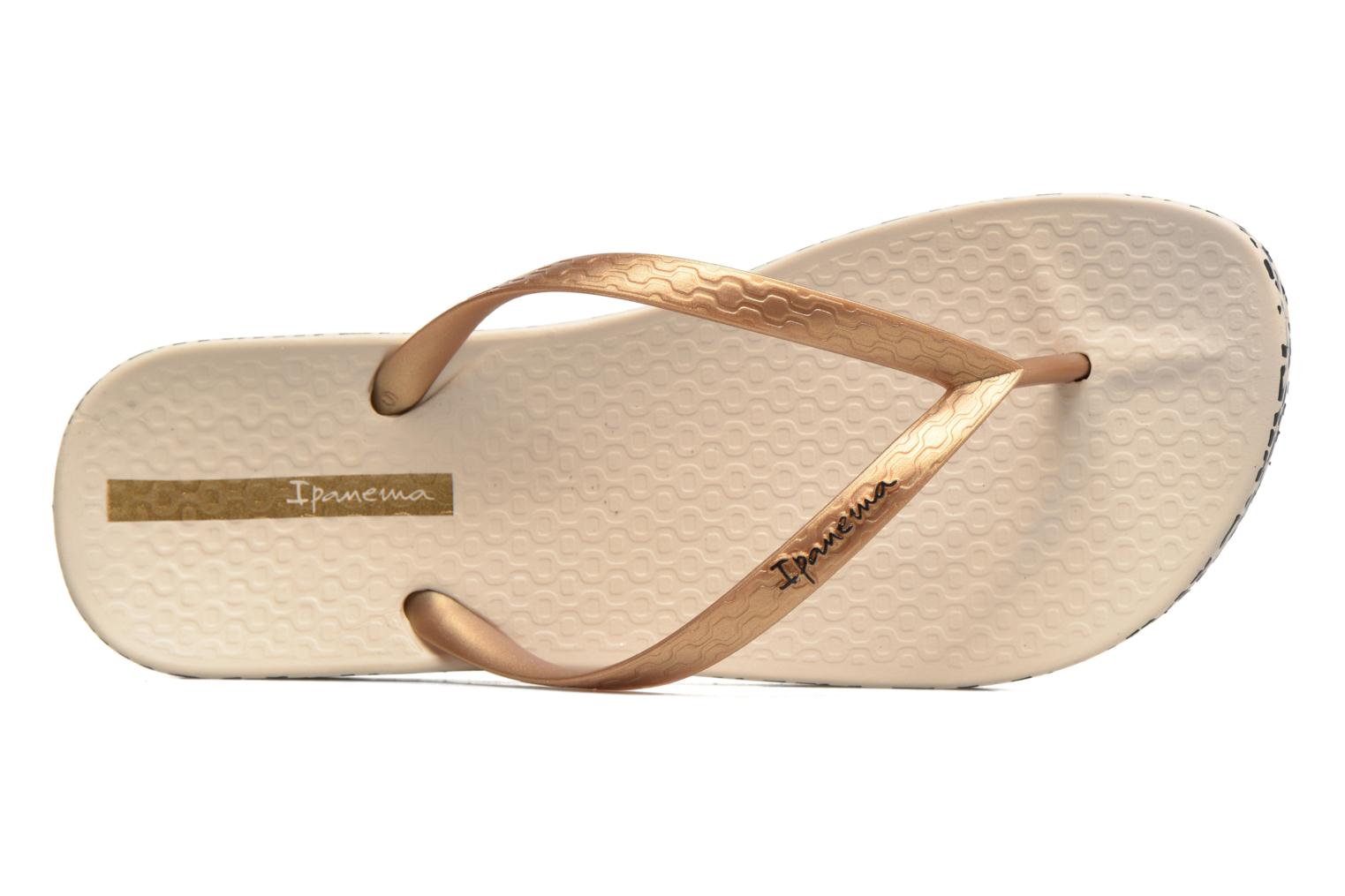 Flip flops Ipanema Anatomica Soft Beige view from the left