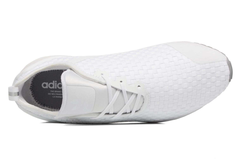 Baskets Adidas Originals Zx Flux Adv Asym Blanc vue gauche