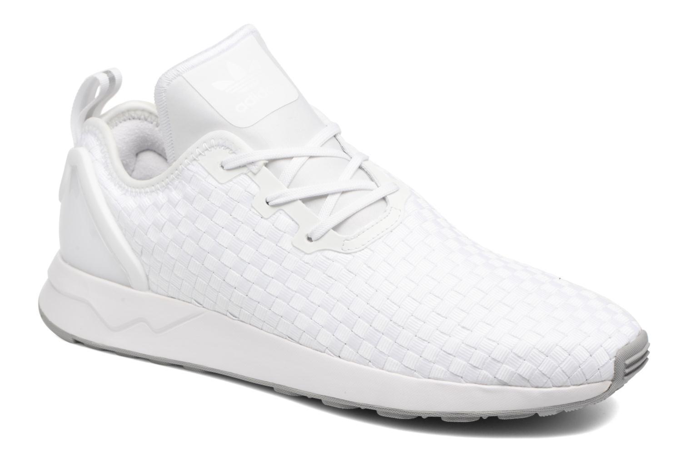 Baskets Adidas Originals Zx Flux Adv Asym Blanc vue détail/paire