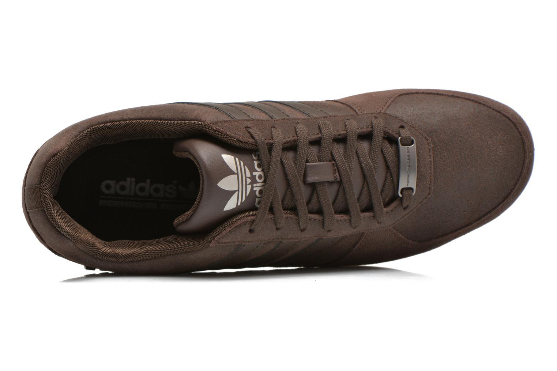 Baskets Adidas Originals Porsche 360 1.2 Suede Marron vue gauche