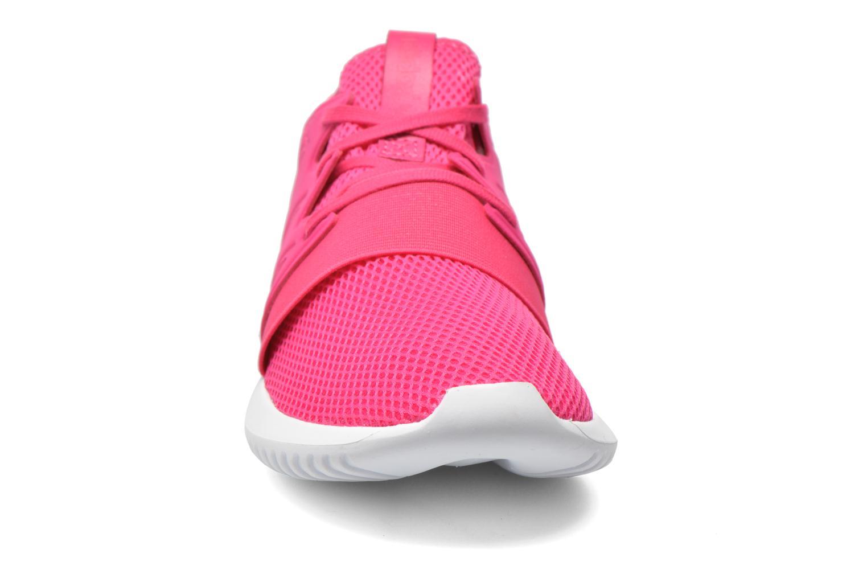 Baskets Adidas Originals Tubular Viral W Rose vue portées chaussures