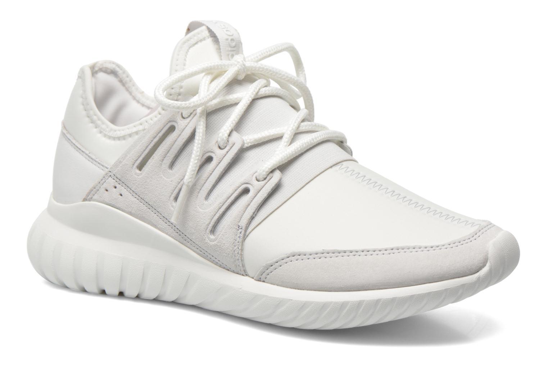 Baskets Adidas Originals Tubular Radial Blanc vue détail/paire