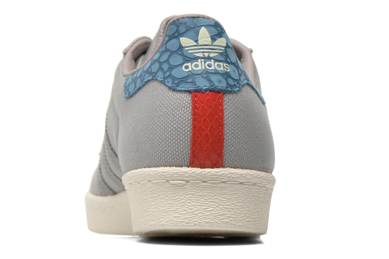 Baskets Adidas Originals Superstar 80S Gris vue droite