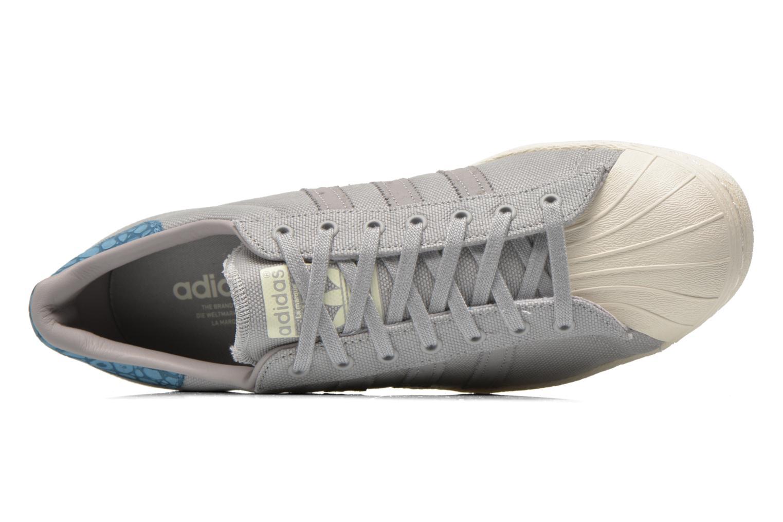 Baskets Adidas Originals Superstar 80S Gris vue gauche