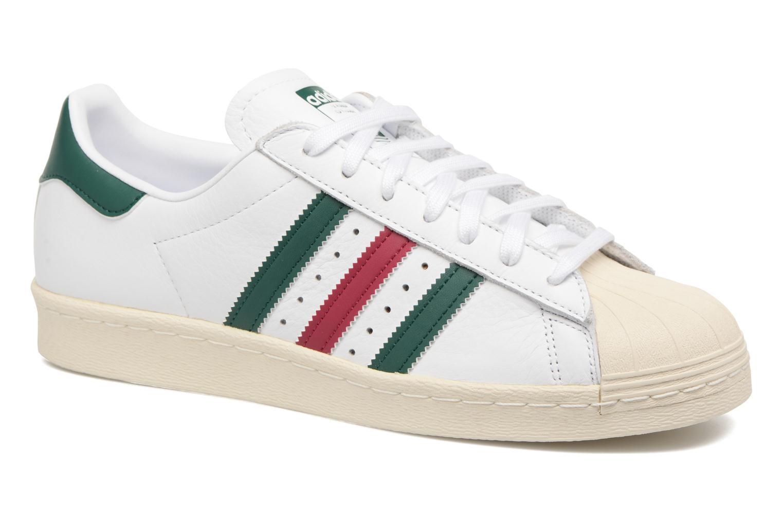 Baskets Adidas Originals Superstar 80S Blanc vue détail/paire