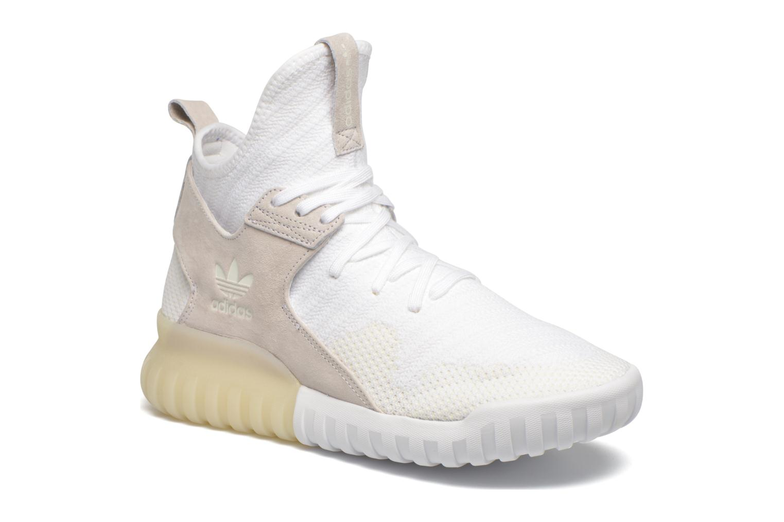 Baskets Adidas Originals Tubular X Pk Blanc vue détail/paire