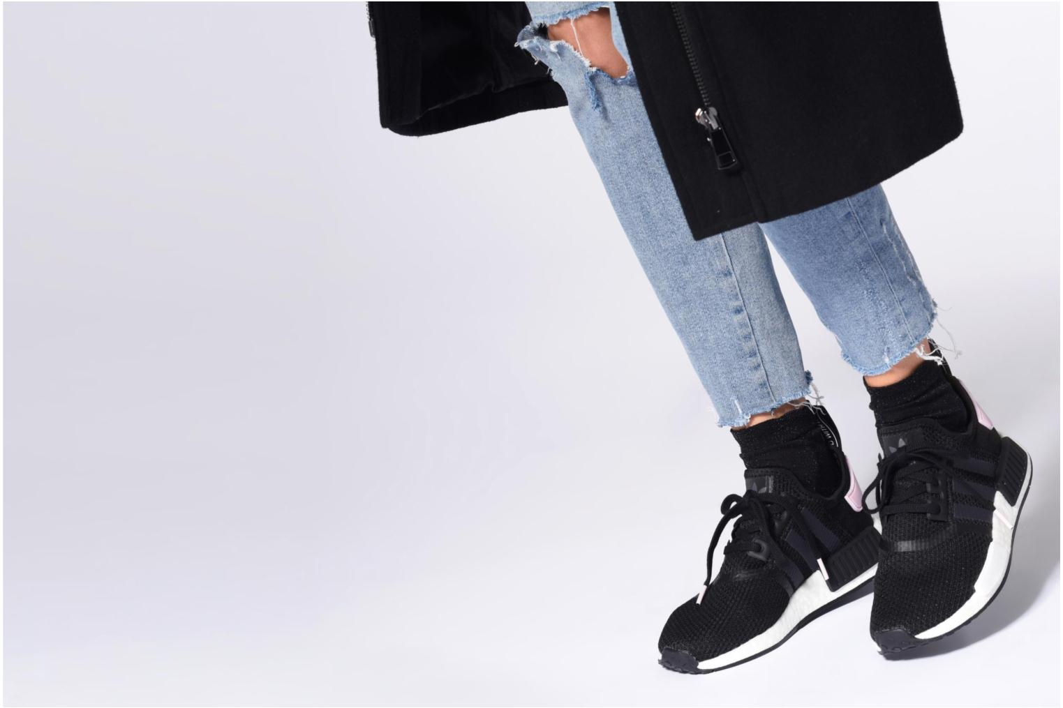 Trainers Adidas Originals Nmd_R1 W Black view from underneath / model view