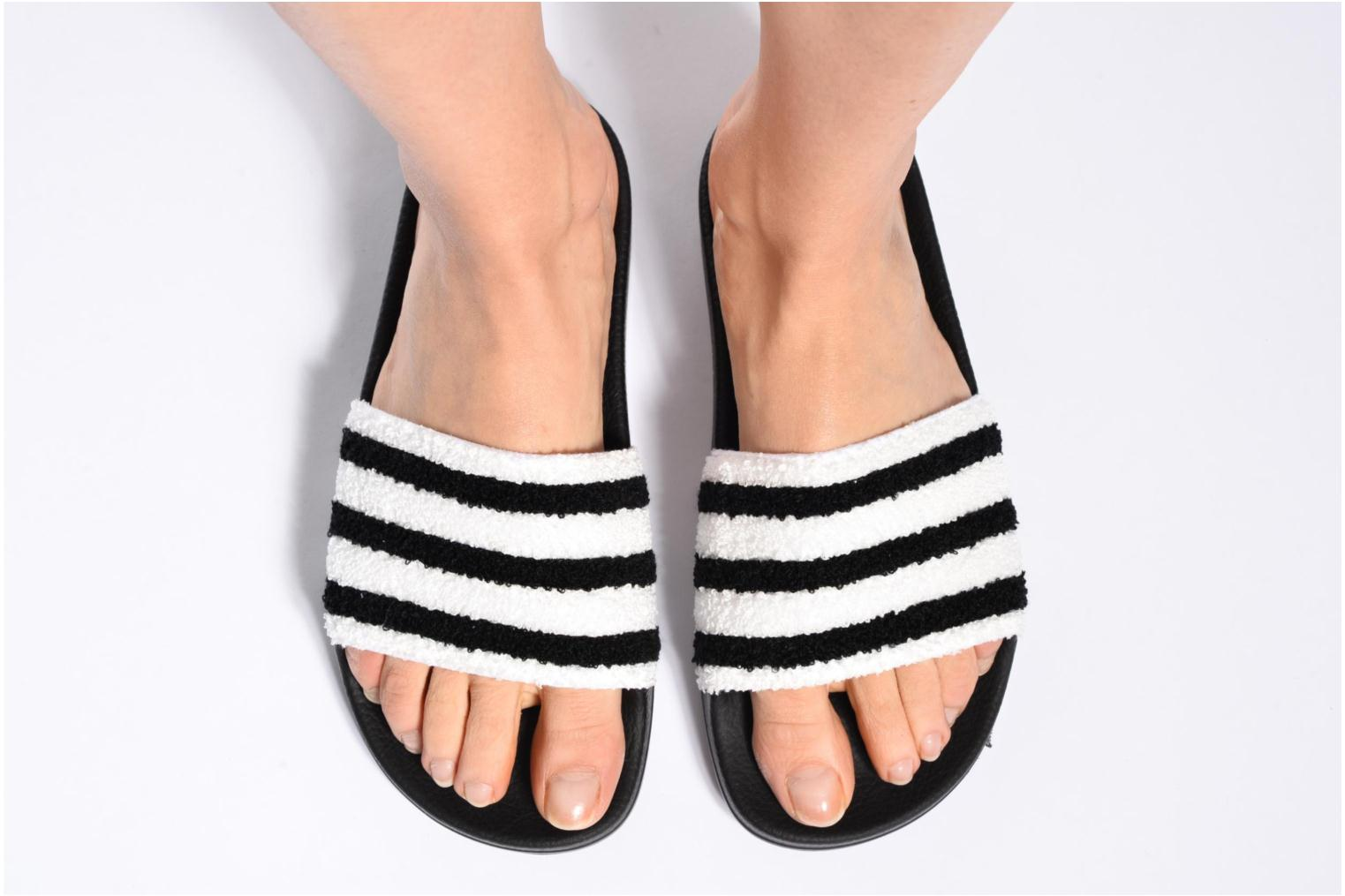 Mules & clogs Adidas Originals Adilette W Black view from underneath / model view