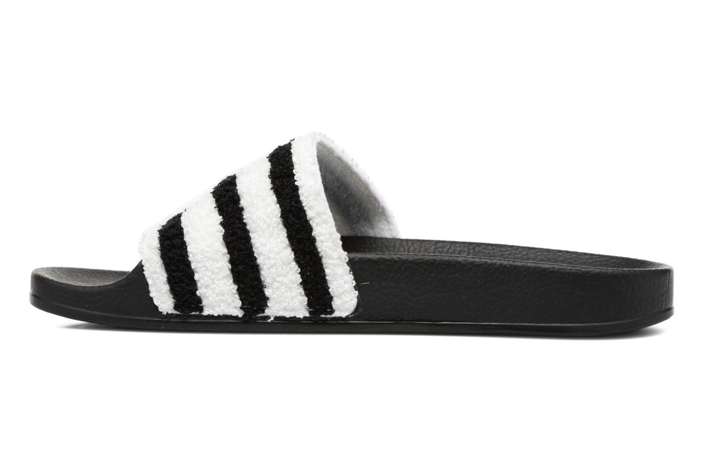 Zuecos Adidas Originals Adilette W Negro vista de frente