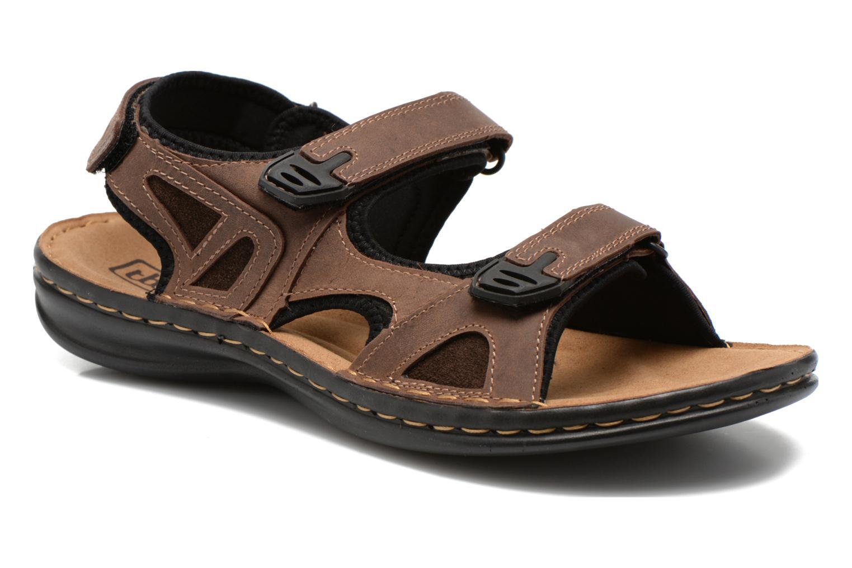 Sandales et nu-pieds TBS Easy Walk Berric Marron vue détail/paire